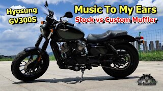 Hyosung GV300S Motorcycle Stock and Custom Exhaust Sounds