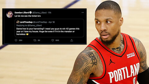 Fan DRAGGED For Lying About Betting His House On Blazers After Damian Lillard Asked Him To Prove It