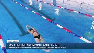 Michigan State University ending swimming, diving programs