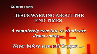 JESUS WARNING about the END TIMES