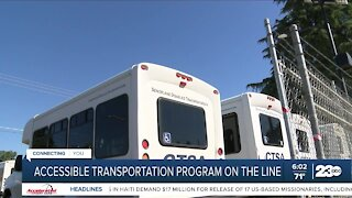 Transportation program for the elderly, disabled could be lost