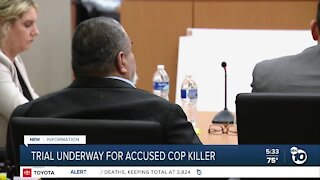 Trial begins for man accused of killing officer