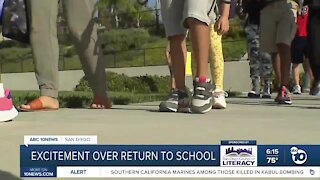 San Diego students excited over return to classroom