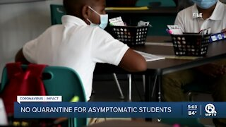 Florida students exposed to COVID-19 won't have to quarantine if asymptomatic, new emergency order says