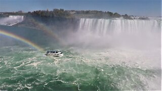 Niagara Falls is unequalled in sheer power and magnificence