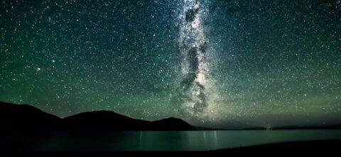 Milky way glowing at night 1