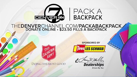 Denver7 viewers donate to help Pack a Backpack campaign