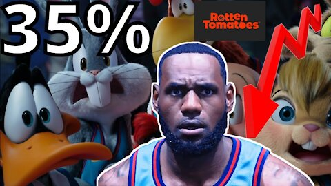 Space Jam A New Legacy PLUMMETS to 35% from WOKE Critics on Rotten Tomatoes! Lebron James FAILS!