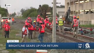 Work underway on tracks for Brightline Orlando Expansion Project
