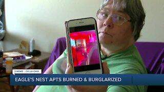 Eagle's Nest Apartments burned & burglarized