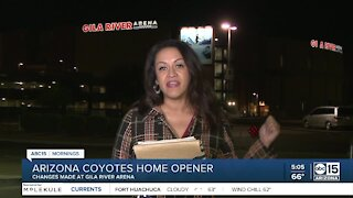 Changes made at Gila River Arena ahead of AZ Coyotes home opener