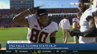 OSU falls to Iowa State 24-21, loses perfect season bid