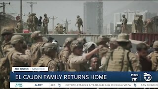 El Cajon family returns home from Afghanistan