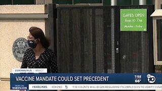 Vaccine mandate could set precedent