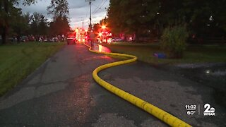 Crews run out of water in Baltimore County fire, but manage to rescue those inside