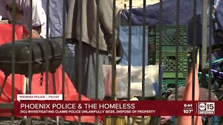 DOJ probe of Phoenix Police Department to include homelessness rights
