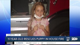 Florida girl helps rescue puppy from burning home