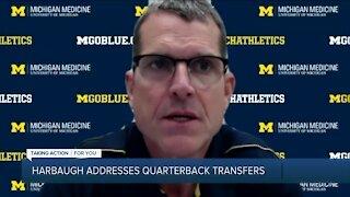 Jim Harbaugh addresses QBs transferring from Michigan