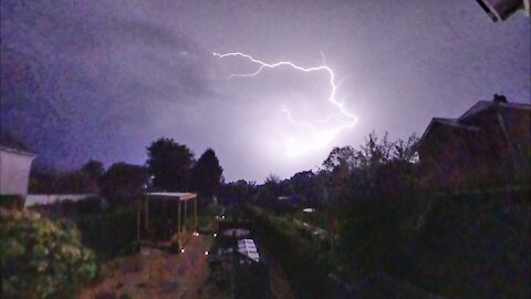 Forked lightning bolt caught on camera in Wales