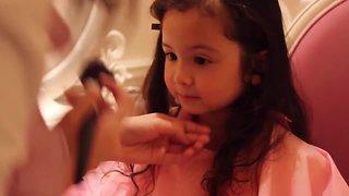 Little girl becomes a princess at Disneyland