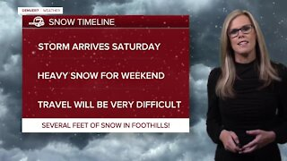 Friday afternoon snow update