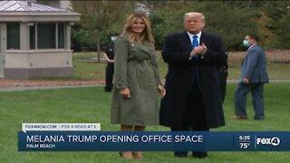 Melania Trump opens office space