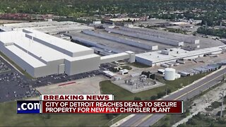Detroit and Fiat Chrysler announce agreement for land deal for new auto plant