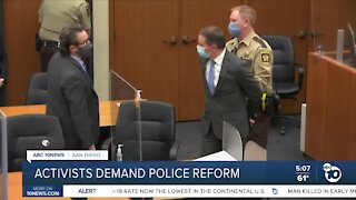 Local activists demand police reform in San Diego County