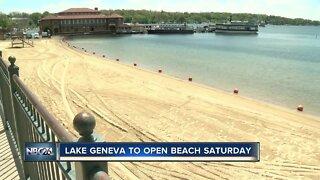 Lake Geneva to open beach Saturday