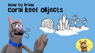 How to Draw Coral Reef Objects