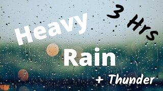Heavy Rain and Thunder | Sleep Sounds | 3 Hrs ~ ASMR ~