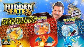 Hidden Fates Reprint Tin Set   Shiny Hunting   Pokemon Cards Opening