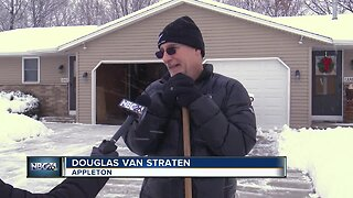 Locals busy cleaning up snow