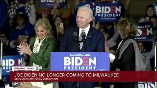 Biden won't be coming to DNC