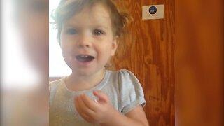 Little Girl Won't Share Candy