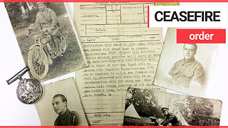 Typed letter announcing the First World War ceasefire has been discovered