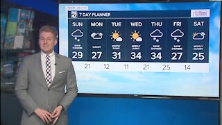 Today's Forecast: Snow showers slowly exiting with breezy winds