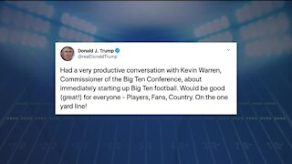 Trump talked with Big Ten commissioner about 'immediately starting' football