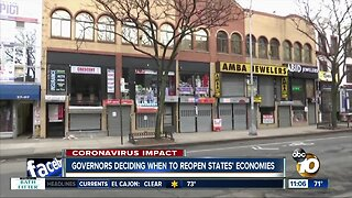 Governors deciding when to reopen states' economies