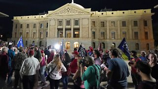 Protesters Gather Outside Arizona Election Center