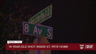 Police: 14-year-old boy shot inside St. Petersburg home