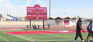 Raiders host development event for Las Vegas-area high school football teams
