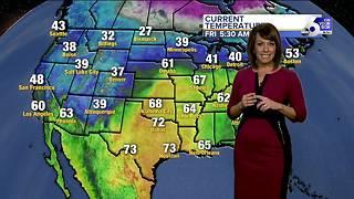 Temperatures rebound over the weekend before plummeting again early next week
