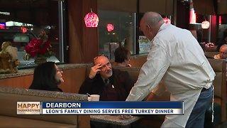 Leon's Family Dining serves free turkey dinner