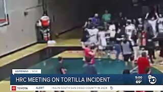 County commission meeting over tortilla throwing incident