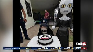 """3-year-old has """"The Nun""""-themed birthday party"""