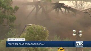 Demolition of Tempe Town Lake bridge