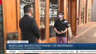 Maryland moves past phase 1 of reopening
