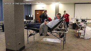Gov. Little donates blood in light of nationwide shortage