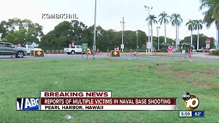 Active shooter reported at Pearl Harbor Naval Shipyard